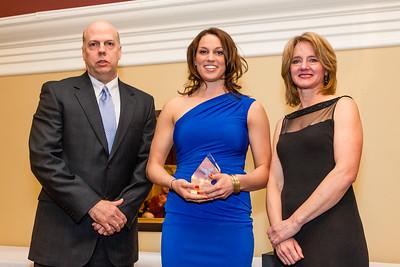 Ed Ireland and Jennifer Brenning present Female Outstanding Athlete of the Year Award to Alyson Bush