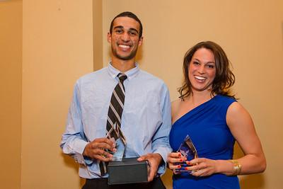 Male and Female 2012 MVPs, Philip Scrubb and Alyson Bush