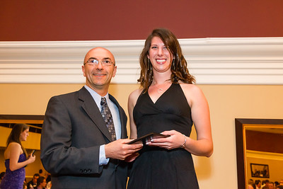 Coach Ed Fournier and Elise Damoiseaux, womens rowing