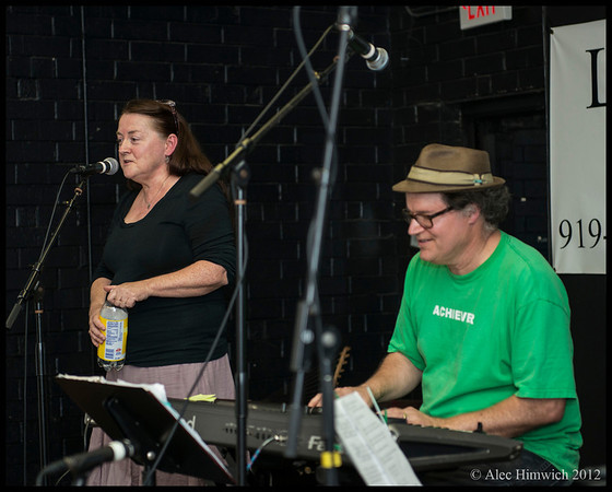 Tim Smith and Eileen Regan<br /> <br /> Carrboro Music Festival<br /> Carrboro, NC<br /> September 30, 2012