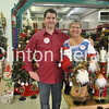 Gifts Galore owners Brian and Marcia Boeding showed off their elaborate Christmas decorations during the Christmas Walk on Sunday. • Natalie Conrad/Clinton Herald
