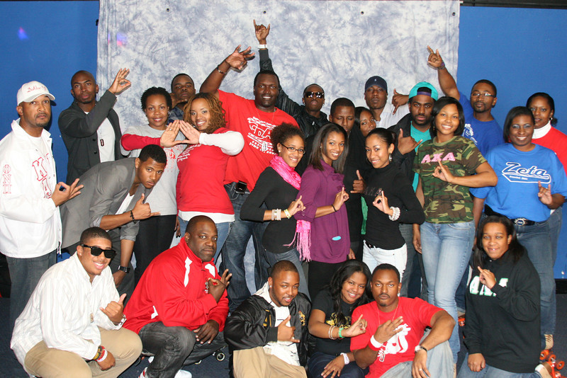 Greeks gather at the 2011 Divine 9 Skate Jam, sponsored by the Carrollton/Douglasville Alumni Chapter of Kappa Alpha Psi Fraternity, Inc.