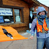 "Volunteer.Heather Sanders helped the crowd with the new details of the 11th annual Frozen Dead Guy Days in Nederland. High winds postponed some of the events until Sunday.<br /> For a video and more photos, go to  <a href=""http://www.dailycamera.com"">http://www.dailycamera.com</a>.<br /> Cliff Grassmick / March 3, 2012"
