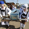 "Members of the Frozen Lederhosen coffin racing team join the Hearse Parade on Saturday.<br /> For a video and more photos, go to  <a href=""http://www.dailycamera.com"">http://www.dailycamera.com</a>.<br /> Cliff Grassmick / March 3, 2012"