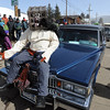 "Demon Dog rode on the hood of his hearse parade during the 11th annual Frozen Dead Guy Days in Nederland.<br /> For a video and more photos, go to  <a href=""http://www.dailycamera.com"">http://www.dailycamera.com</a>.<br /> Cliff Grassmick / March 3, 2012"