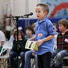 Record-Eagle/Keith King<br /> Alex Olin of Eastern Elementary School competes Wednesday, February 15, 2012 in the 2012 Grand Traverse County Spelling Bee at Grand Traverse Academy.