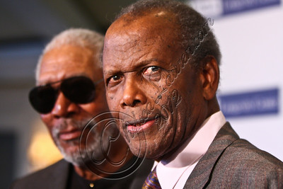 BEVERLY HILLS, CA - JUNE 06:  Actors Morgan Freeman (L) and Sidney Poitier attend the 2012 ICON Awards at Beverly Hills Hotel on June 6, 2012 in Beverly Hills, California.  (Photo by Chelsea Lauren/WireImage)