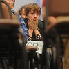 Globe/Roger Nomer<br /> Nicholas Adams, a sixth grader at St. Peter's Middle School, nervously waits his turn to spell during Wednesday's Spelling Bee.