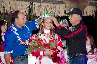 Cheyenne Shomo is crowned Jr. Miss Choctaw Nation by Assistant Chief Gary Batton and Chief Gregory E. Pyle.