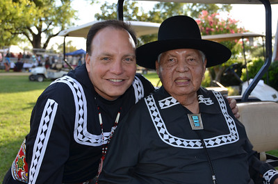 Assistant Chief Gary Batton and Tribal Chaplain Bertram Bobb.