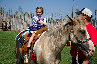 Betheny Pisacchubbee-Cole rides Jasper.