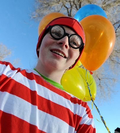 """Jackson Brown may be the real """"Waldo."""" He is preparing to run the Quicker Quaker 5K on Saturday.<br /> For more photos and a video of the festival, go to  <a href=""""http://www.dailycamera.com"""">http://www.dailycamera.com</a>.<br /> January 14, 2012 / Cliff Grassmick"""