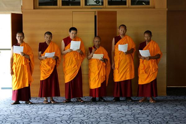 Preparation for Mandala Closing Ceremony, Emory University - April 2012