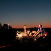 Record-Eagle/Jan-Michael Stump<br /> Night falls on the National Cherry Festival Midway.