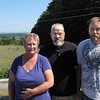 Record-Eagle Photo/Art Bukowski<br /> Tammy, Stanley and Lucas Krawczyk stand outside their home.