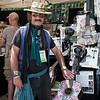 Custom art work instuments for sale in the vendor area. (Howard Pitkow/for Newsworks)