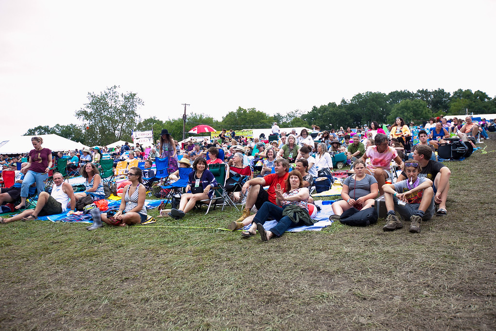 A partial view of the concert area on Sunday evening. (Howard Pitkow/for Newsworks)