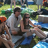 The first campers in line since 6AM. (Howard Pitkow/for Newsworks)