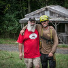 Groundz Committee chairman Lee Theis with Frazier the resident tree man. ˙(Howard Pitkow/for Newsworks)