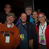 Some of the folks behind the scenes at the festival: left to right in front, Richard Kardon, Jesse Lundy, Andy Braunfeld. Left to right in rear, Michael Cloeren, Gene Shay & Lisa Schwartz.(Howard Pitkow/for Newsworks)