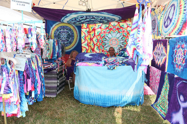 Tie Dye vendors in the craft area.(Howard Pitkow/for Newsworks)