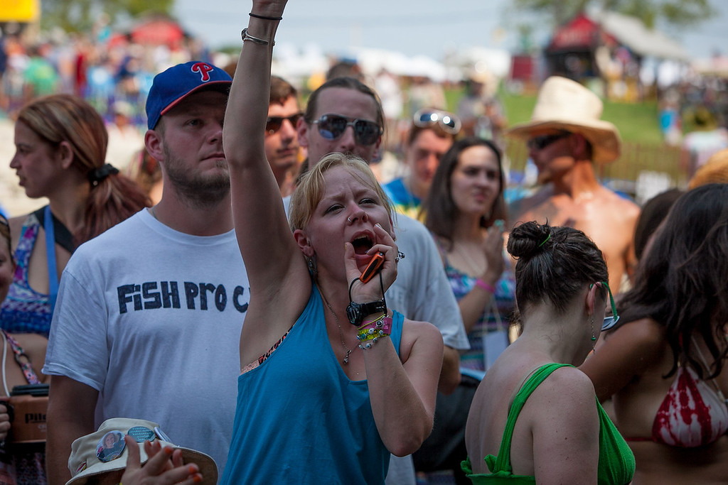 Concert goers were seen enjoying the music throughout the day an dnight. (Howard Pitkow/for Newsworks)