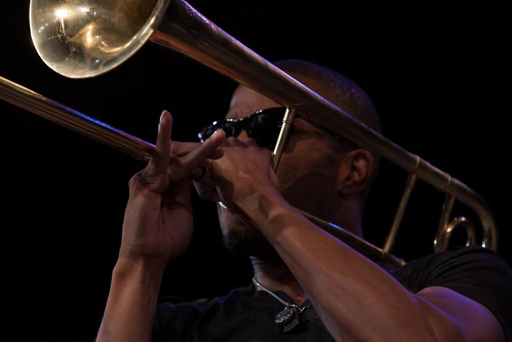 Trombone Shorty performing Sunday nigfht. (Howard Pitkow/for Newsworks)