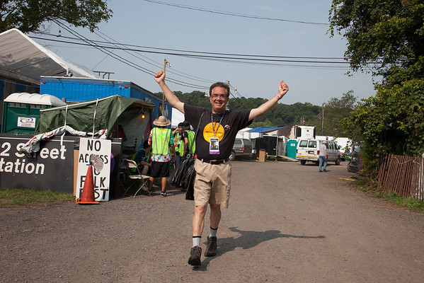 Michael Cloeren Folk Festival Director early Friday morning. (Howard Pitkow/for Newsworks)