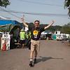 Michael Cloeren Folk Festival Director early Friday morning. (Howard Pitkow/for Newsworks)