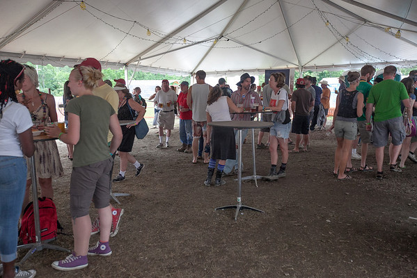 Back for it's 4th year the Yards Brewing Co. tent was a festival favorite. (Howard Pitkow/for Newsworks)
