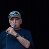 MC Gene Shay announces from the main stage for his 51st year. (Howard Pitkow/for Newsworks)