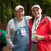 Singer songwriter Mike Cross with Folk Festival Chair Andy Braunfeld.(Howard Pitkow/for Newsworks)