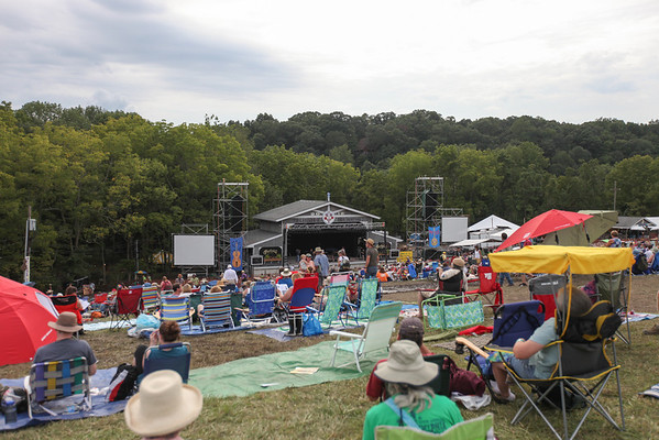 A view of the Martin Guitar main stage from the top of the hill. (Howard Pitkow/for Newsworks)