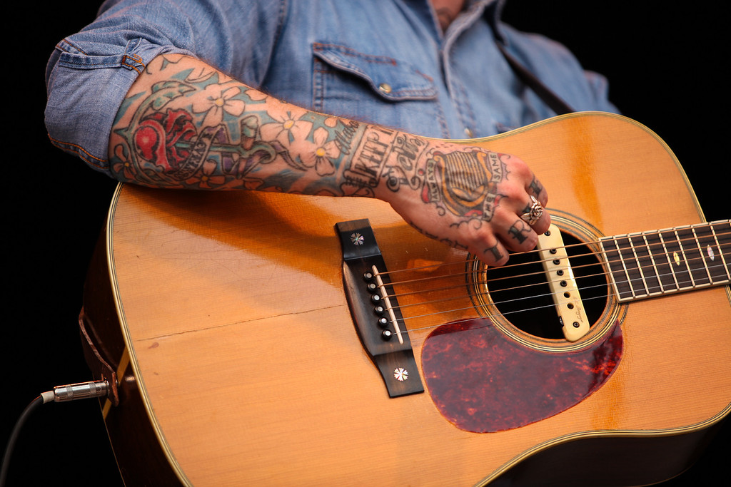 Dallas Green the Canadian artist known as City and Colour performed Sunday evening. (Howard Pitkow/for Newsworks)