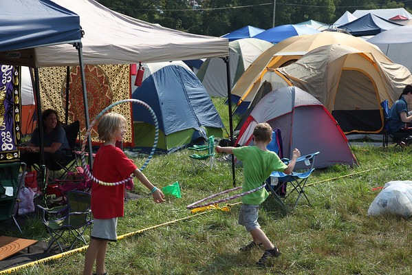 Children playing in the campground. (Howard Pitkow/for Newsworks)