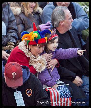Watching the parade with grandmom. Howard Pitkow / for Newsworks