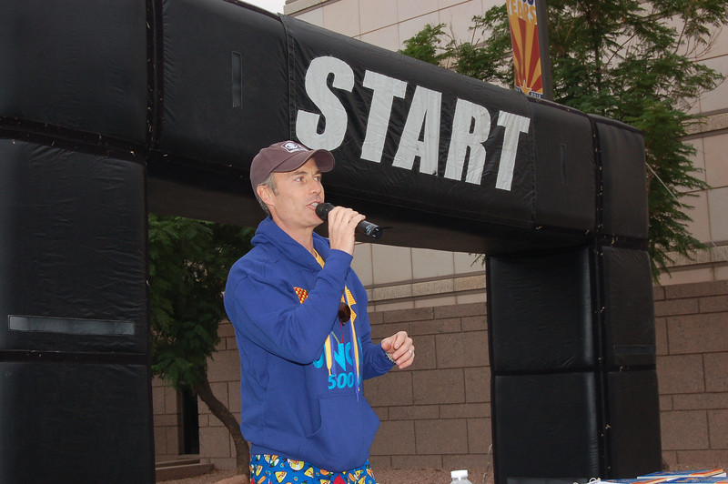 CBS5's Sean McLaughlin  Did another outstanding job MC'ing for the cause.