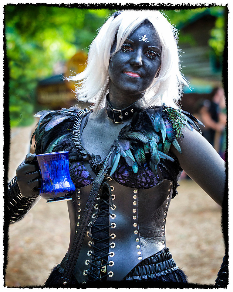 This day, the Dark Elves appeared out in force and although potentially dangerous, this one was clearly enjoying herself whilst liberally sampling the dark ale.