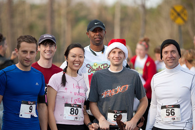 Jingle Bell walk / run 5k   12/1/12   24:55