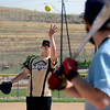 "Brodie Chinatti,  of the ADKOD softball team, pitches in a tournament at Stazio Field on Sunday to help fight breast cancer.<br /> Izzy Crouse started a softball tournament to raise money to help fight breast cancer after her teammate, Heidi Muller contracted the disease.<br /> For a video and more photos of the softball, go to  <a href=""http://www.dailycamera.com"">http://www.dailycamera.com</a>.<br /> Cliff Grassmick  / August 12, 2012"