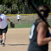 "Cancer survivor, Heidi Muller, pitches against the Orange Slices during a benefit softball game at Stazio Fields in Boulder on Sunday.<br /> Izzy Crouse started a softball tournament to raise money to help fight breast cancer after her teammate, Heidi Muller contracted the disease.<br /> For a video and more photos of the softball, go to  <a href=""http://www.dailycamera.com"">http://www.dailycamera.com</a>.<br /> Cliff Grassmick  / August 12, 2012"