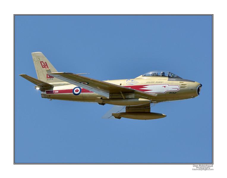 "RCAF - F86 Sabre<br /> 11"" x 14"" print"