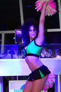 Cheerleader at the Clevelander lounge at Marlins Park