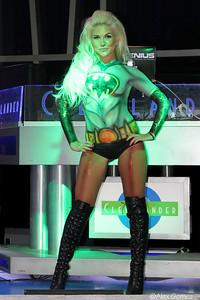 Batgirl at the Clevelander lounge at Marlins Park