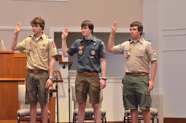 2012: Eagle Scout Court of Honor - Troop 890, March 2012 - Henry, Housewright and Mills