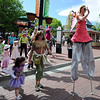 """Frequent Flyers were in the air on stilts during the parade.<br /> Downtown Boulder held the popular Tulip Fairy and Elf Parade on the Pearl Street Mall on Saturday.<br /> For  a video and more photos of the event, go to  <a href=""""http://www.dailycamera.com"""">http://www.dailycamera.com</a><br /> Cliff Grassmick / April 28, 2012"""