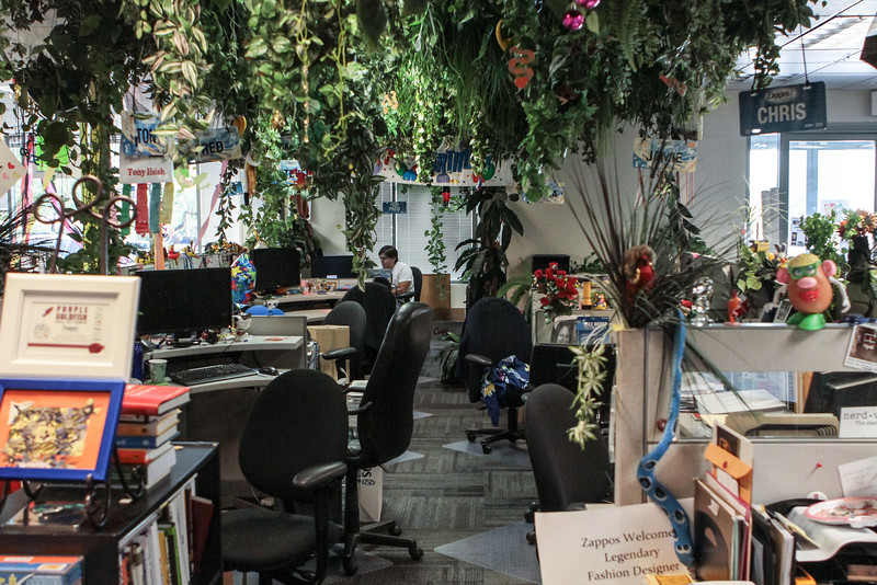 """Monkey Row at Zappos, this is where the """"C"""" level employees like Tony Hsieh sit"""