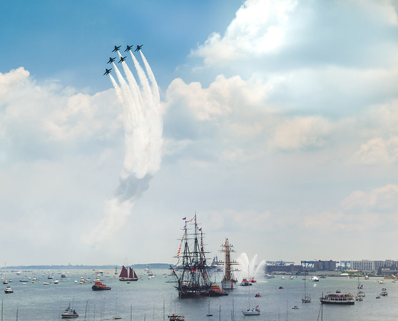 Blue Angels Fly Over Constitution