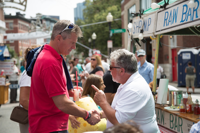 Shaking Hands with U.S. Senator Scott Brown on Hanover Street
