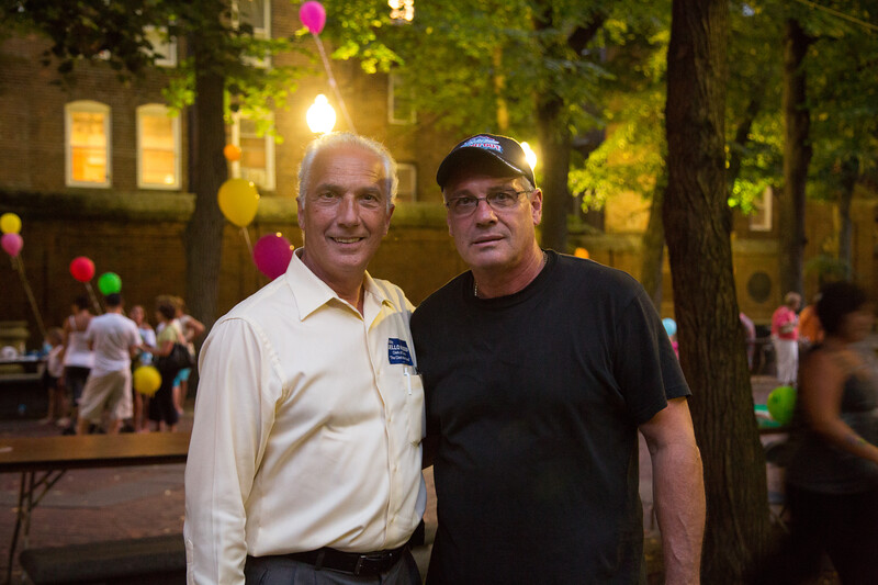 Bobby Dello Russo, Candidate for Clerk of Courts, (left) with Mike Giannasoli